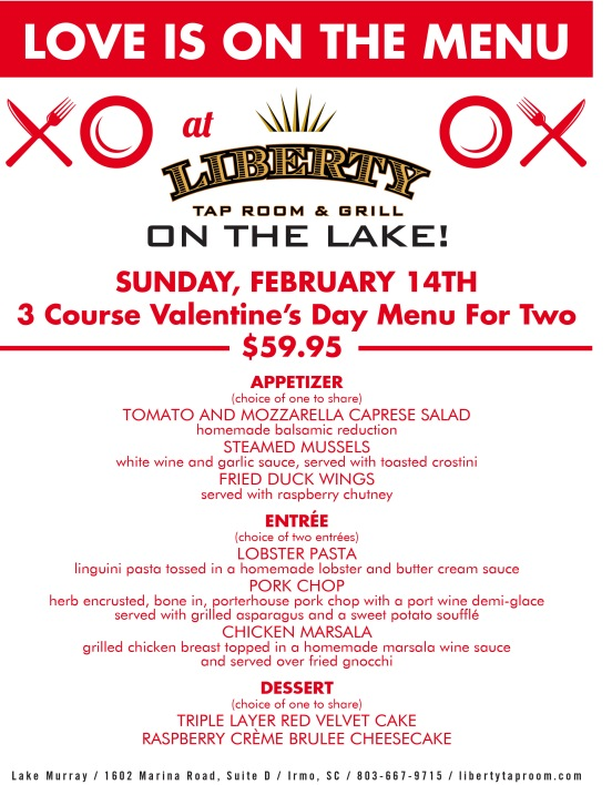 (200) Liberty on the Lake Valentine's Day Flyer